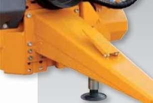 Dyszel zaczepowy z regulacją wysokości jako wyposażenie dodatkowe Spirmix podajnik taśmowy