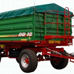 Przyczepa Metaltech DB 10, trójstronny wywrót, dwuosiowa, ładowaność 10 ton