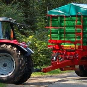 Przyczepa TB 12 tandemowa, burtowa do przewozu zbóź, okopowych i innych materiałów produkcji rolnej