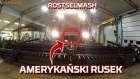Amerykański Rusek Tapeta z ruskim Kombajnem Rostselmash Acros w wersji Versatile na żniwach 2019 w polu od Korbanek