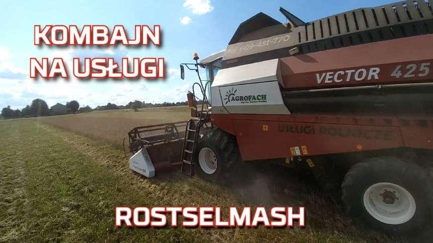 Zdjęcie najlepszego kombajnu zbożowego na usługi rolnicze Rostselmash Vector 425 na żniwa od Korbanek