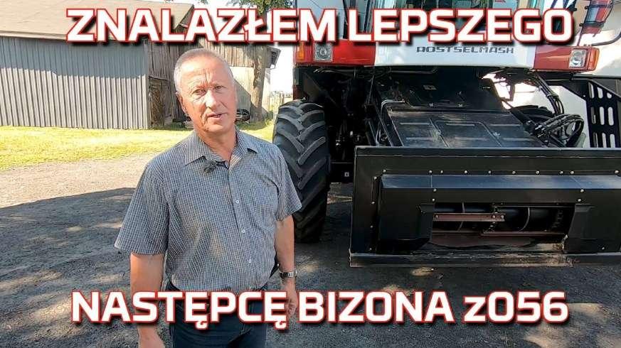 Zdjęcie przy kombajnie Ciecióry rolnika z łudzkiego który kupił 3x lepszego następcę bizon z056 kombajn rostselmash nova 330 od korbanek