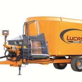 Wóz paszowy Lucas Spirmix 180 o pojemności 18 m3, wóz jest dostępny w ofercie firmy Korbanek