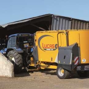 Wóz paszowy Lucas Spirmix 180, wóz o pojemności 18 m3, na polskim rynku jest dostępny w firmie Korbanek