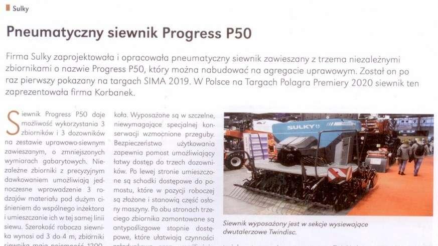 Progress P50 pneumatyczny siewnik Sulky