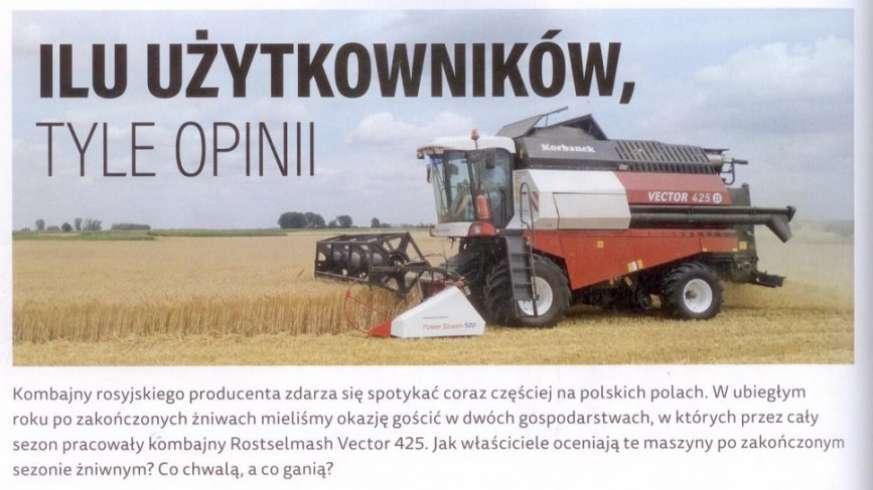 Vector 425 kombajn zbożowy marki Rostselmash