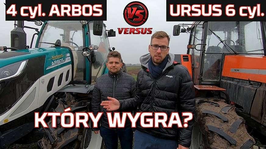 Tapeta Traktor Ursus 1634 vs ciągnik Arbos Który wygra 6 cylindrów czy 4 cylindry Test na polu w orce 2019 www.korbanek.pl