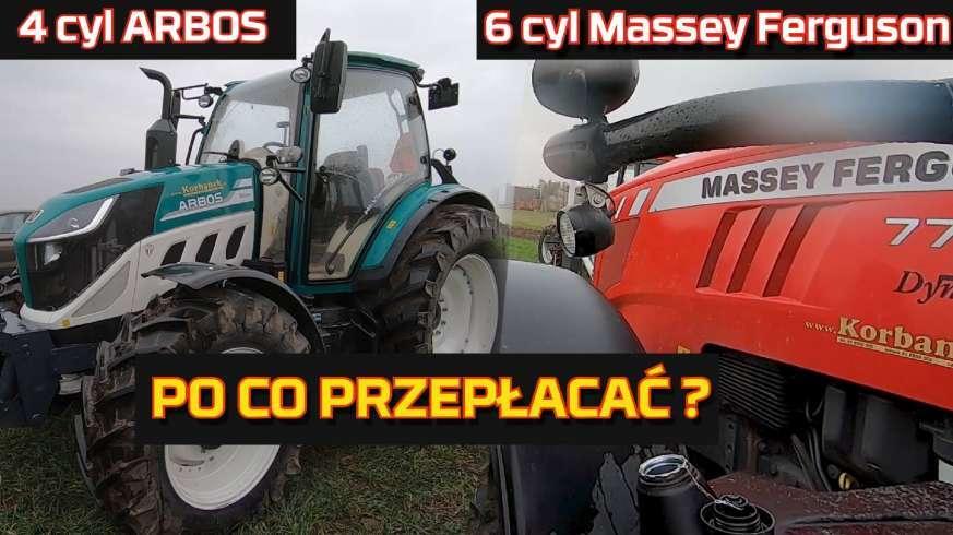Tapeta 4 cylindry vs 6 cylindrów traktor Arbos vs Massey Ferguson PO CO PRZEPŁACAĆ test spalania siły uciągu mocy tani www.korbanek.pl