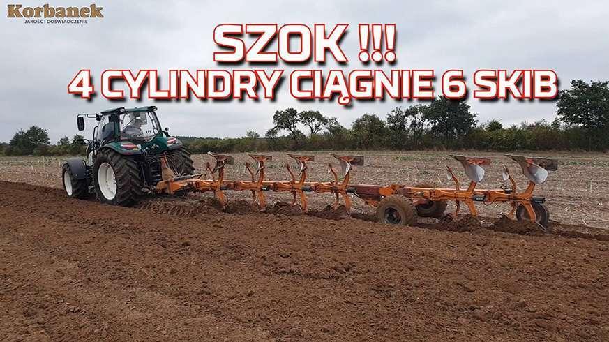Tapeta z Traktor 4 cylindry ciągnie 6 skib pług obrotowy |Ciągnik i Orka 2019| Test | Nowy nabytek www.korbanek.pl