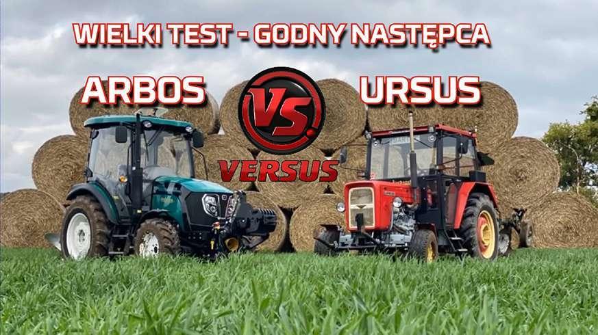 Tapeta Ursus c 360 vs Arbos 3055 wielki test na polu podczas orki z nowym nabytkiem www.korbanek.pl