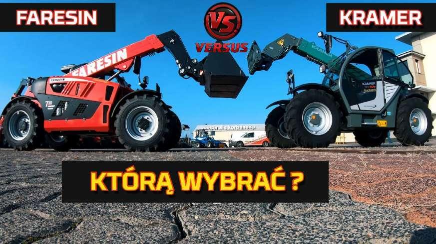 Tapeta Kramer vs faresin - ładowarka teleskopowa test moc ładowność wysokość załadunku nowy nabytek www.korbanek.pl