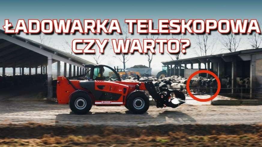 Tapeta z ładowarką teleskopową Faresin na gospodarstwie rolnym od www.korbanek.pl