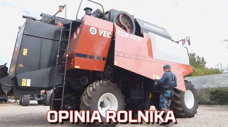 Film z opinią rolnika o kombajnie zbożowym Rostselmash Vector 425