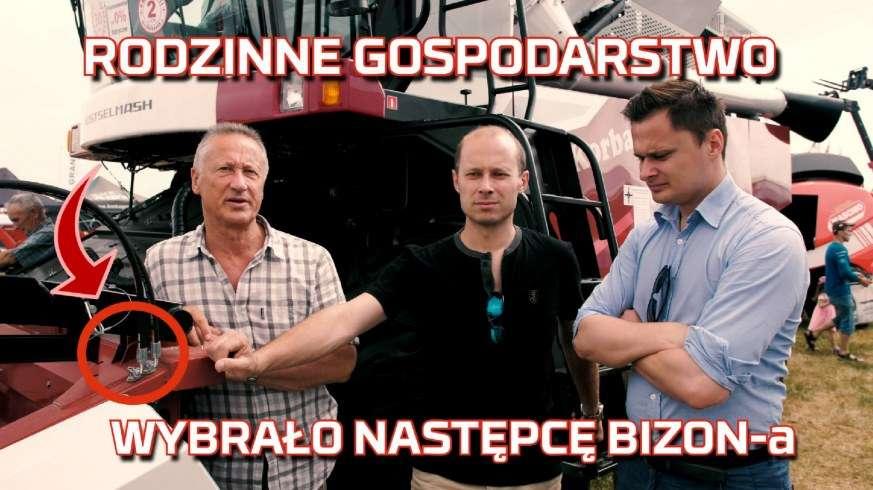 Zdjęci rodzinne rolników którzy wybrali kombajn zbożowy Rostselmash Nova jako następcę Bizon a Z056 - www.korbanek.pl