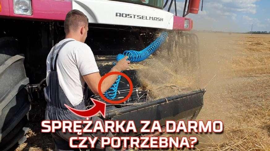 Tapeta kombajnu zbożowego Rostselmash ze sprężarką powietrza w standardzie w żniwa 2019 od www.korbanek.pl