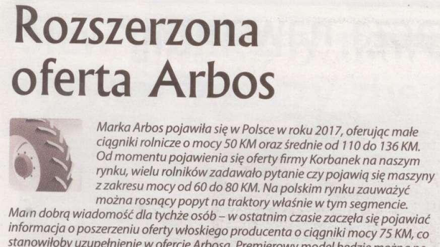 Ciagniki Arbos z nowej oferty Arbosa
