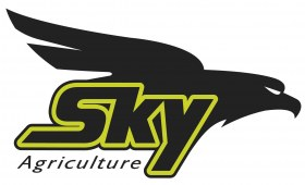 Duże Logo Sky Agriculture z orłem czarno zielone