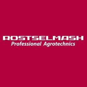Logo Rostselmash na czerwonym tle korbanekpl