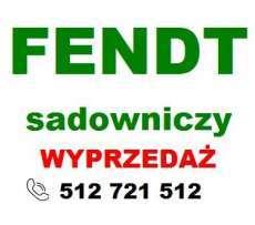 Zielony napis Fendt na biały tle