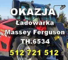okazja reklama ładowarki Massey Ferguson - Ładowarki - MF TH.6534 podany numrt telefony