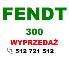 Zielony napis Fendt na białym tle