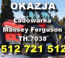okazja teleskopowa ładowarka Massey Ferguson MF TH.7038