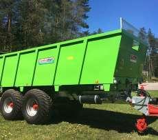 Dużej pojemności rozrzutnik obornika na tandemie koloru zielonega maszyna rolnicza produkowana przez Cynkomet