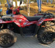 Quad jako ciągnik rolniczy Polaris Sportsman XP 1000 Husar www.korbanek.pl