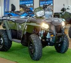 Sportsman EPS 570 Polaris wspomaganie kierownicy kolor zielony felgi stalowe EBS hamowanie silnikiem dodatkowa lampa w kierownicy Korbanek.pl