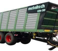 Zdjęcie przedstawiające przyczepę Metaltch SILO 50,  objętościowa do zbierania sieczki i kukurydzy, wiecej informacji na str www.korabnek.pl