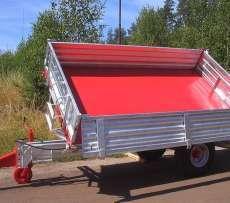Jednoosiowa przyczepa rolnicza transportowa do przewozu płodów rolnych T 117 firmy cynkomet