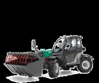 Widły typu Krokodyl zamontowane w ładowarce Kramer KT 276