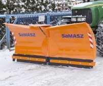 Olimp pomarańczowy pług do śniegu firmy Samasz spychacz do odśnieżania ulic i dróg Korbanek.pl