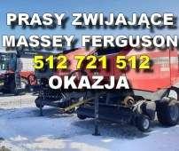 zdjęcie dwóch pras belujących Massey ferguson z wyróżnikiem okazja i numerem telefonu