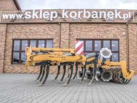 Żółty agregat podorywkowy zębowy Agrisem model Agromulch 3,0 GOLD widok boczny  Korbanek.pl