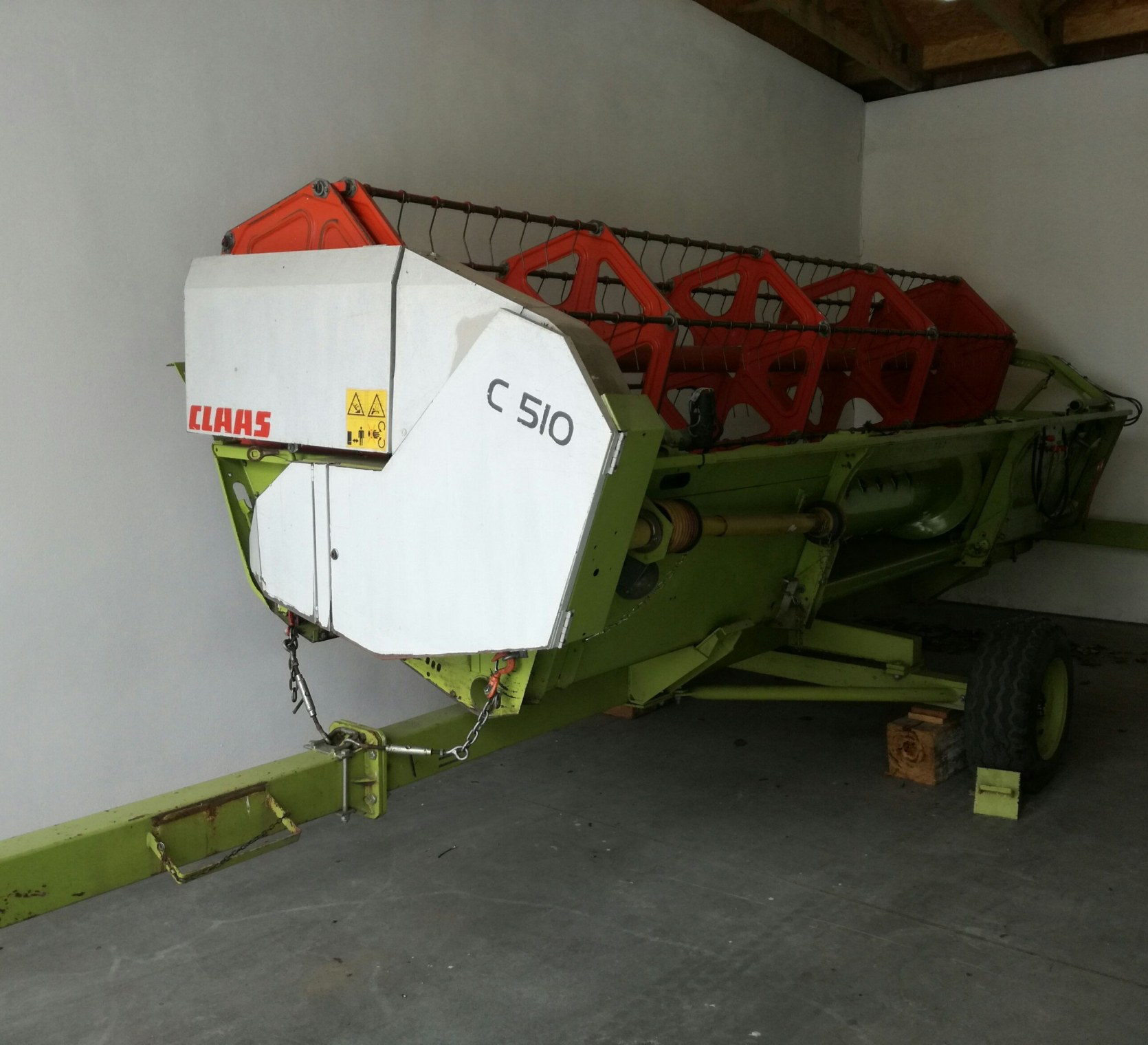 Heder zbożowy Claas C510