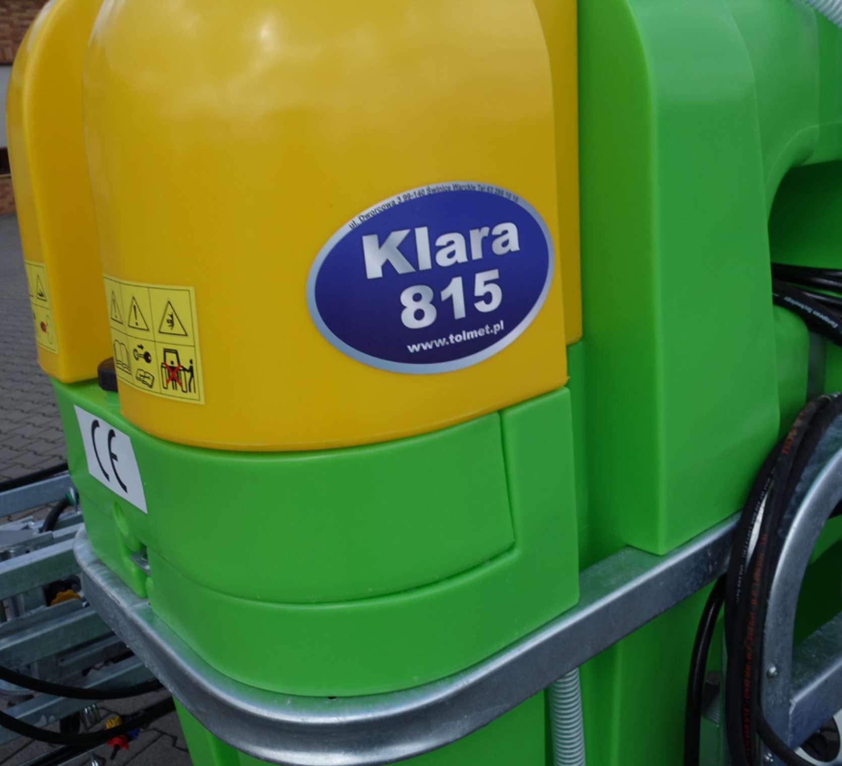 Opryskiwacz Tolmet Klara 815 na tle firmy korbanek rozwadniacz boczny środki ochrony roślin