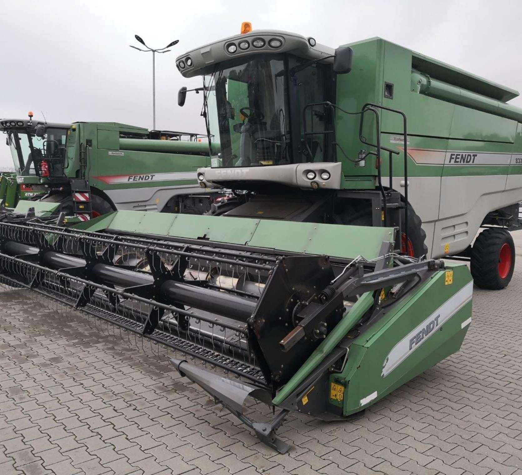 Używany kombajn Fendt 8370 P z hederem FT 770 PFz oferty www.korbanek.pl