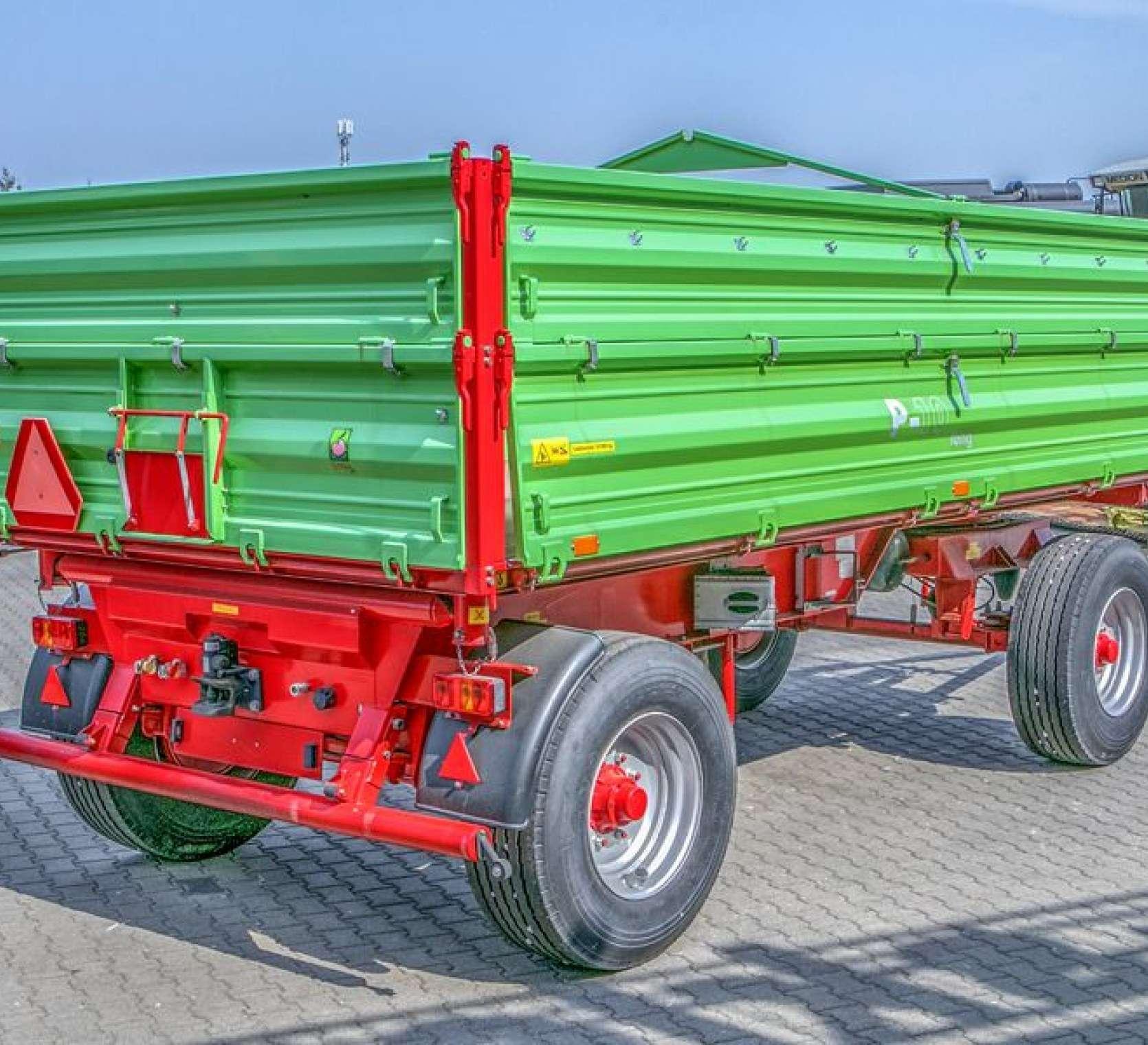 Przyczepa rolnicza P10 LONG trójstronny wywrot dwuosiowa wymiar paletowy