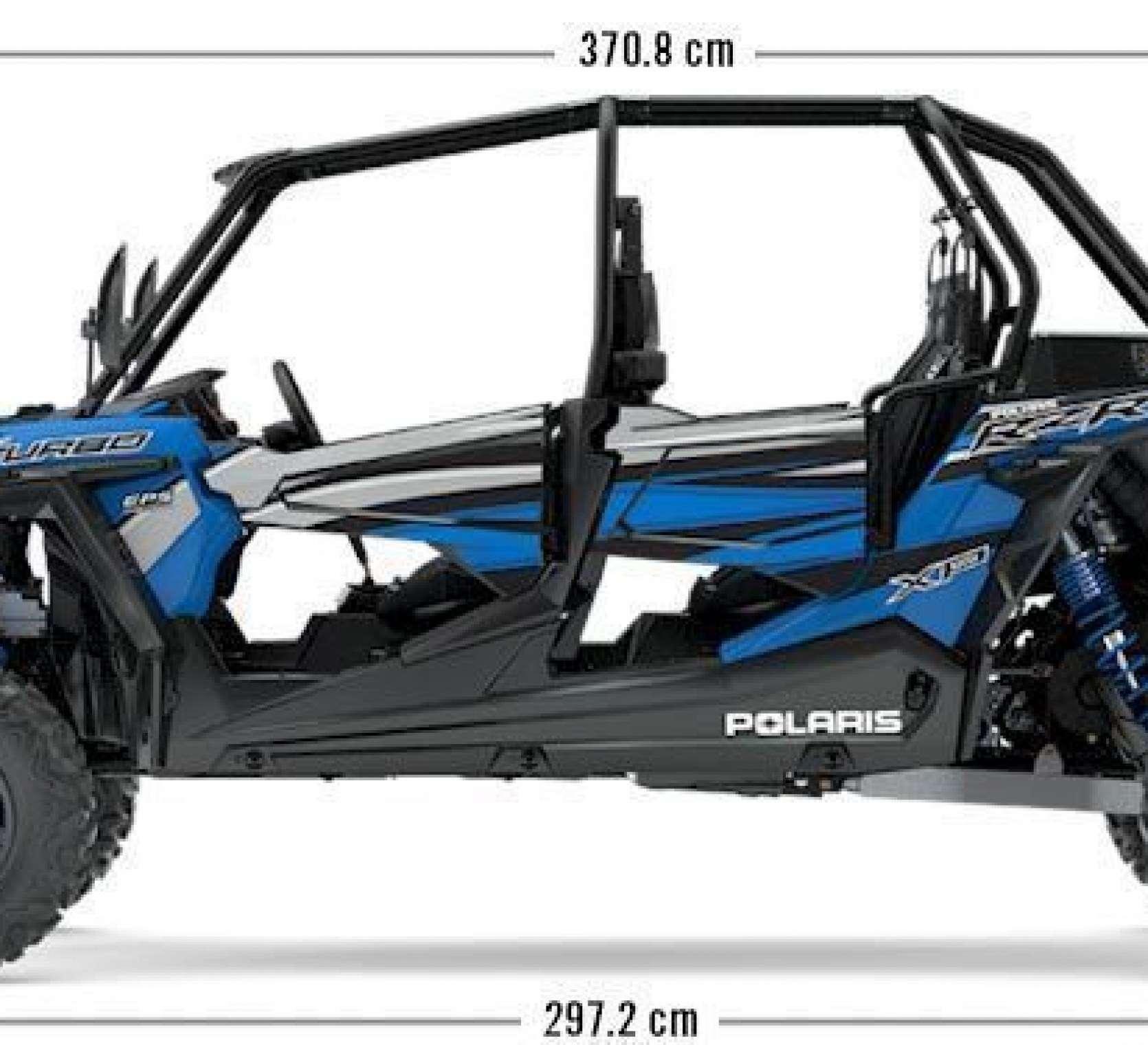 168 KM RZR Turbo na obrazku przedstawiono wymiary pojazdu korbanek.pl