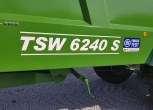 Napis na boku skrzyni ładunkowej rozrzutnika obornika model TSW 6240 S