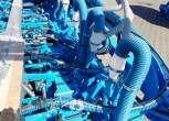 Cyklony instalacji pneumatycznej podsiewacza nawozów czołowego MONOSEM