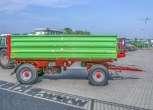 P10 LONG Przyczepa rolnicza  trójstronny wywrot dwuosiowa wymiar paletowy