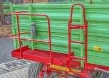 Przyczepa P10 LONG rolnicza trójstronny wywrot dwuosiowa wymiar paletowy