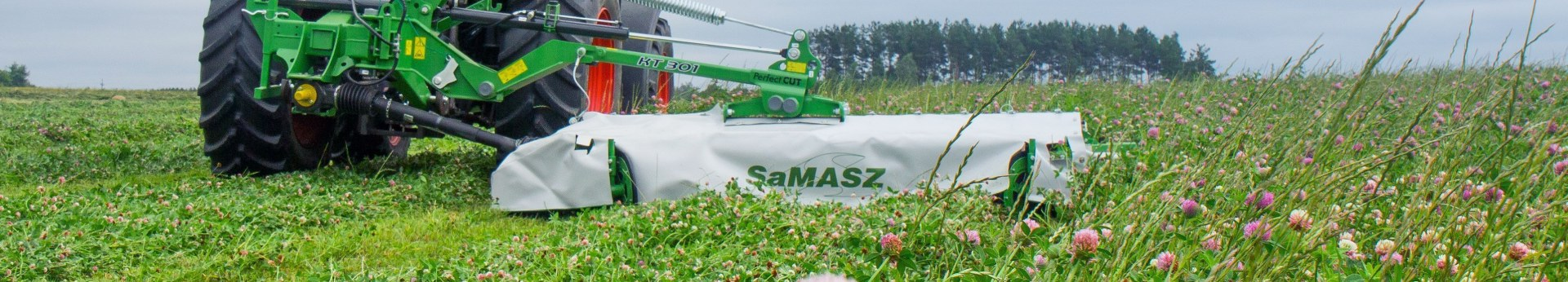 Kosiarka do trawy tylna dyskowa zawieszana SAMASZ typ KT 301 kosi trawę na łące Korbanek.pl