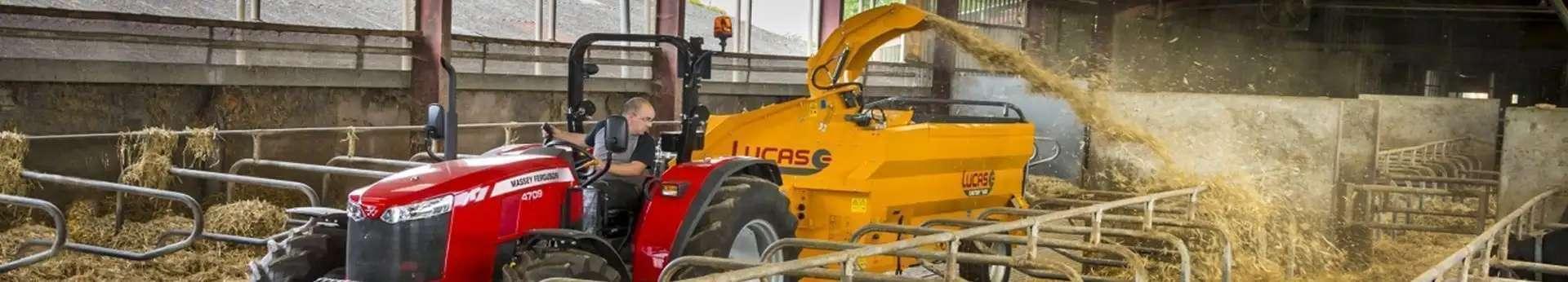 Lucas Castor R ścielarka zdjęcie podczas pracy w oborze