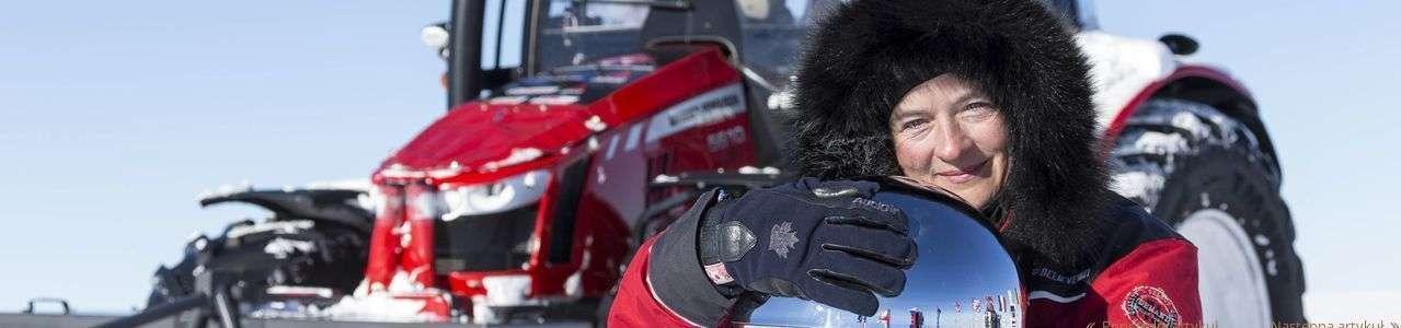 ciągnik Massey Ferguson na biegunie południowym