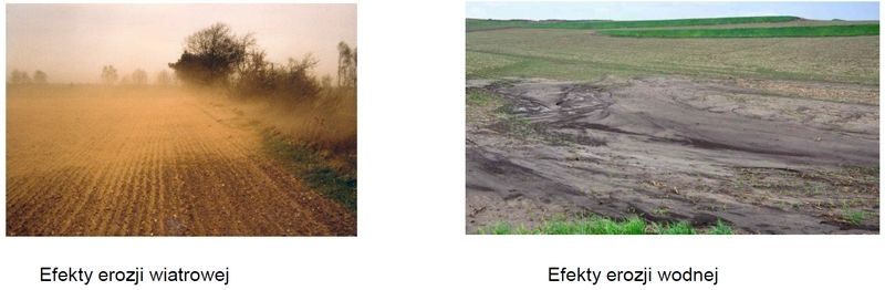 Efekty erozji gleby