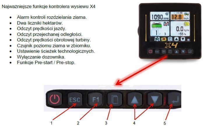 kontroler wysiewu x4 Arbos MSD 2.0 Combi E korbanek.pl