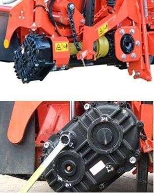 Multi Speed przekładnia oferująca więcej prędkości dla różnych długości cięcia w przystawkach Kemper
